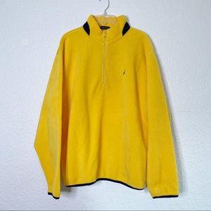 NAUTICA Half zip Pullover Yellow Fleece Jacket L